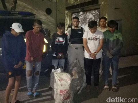 Lima pelaku bajing loncat yang ditangkap masih berumur belasan