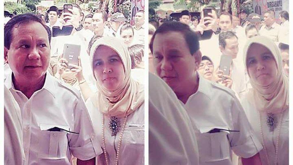 Asma Dewi Foto Bareng Prabowo dan Dhani, Bang Japar: Cuma Ngefans