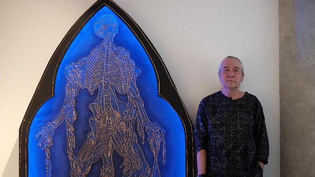 Karya-karya Agus Kama Loedin Terbuat dari Material Kawat