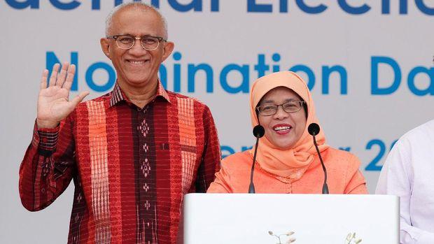 Halimah dan suaminya, Mohammed Abdullah