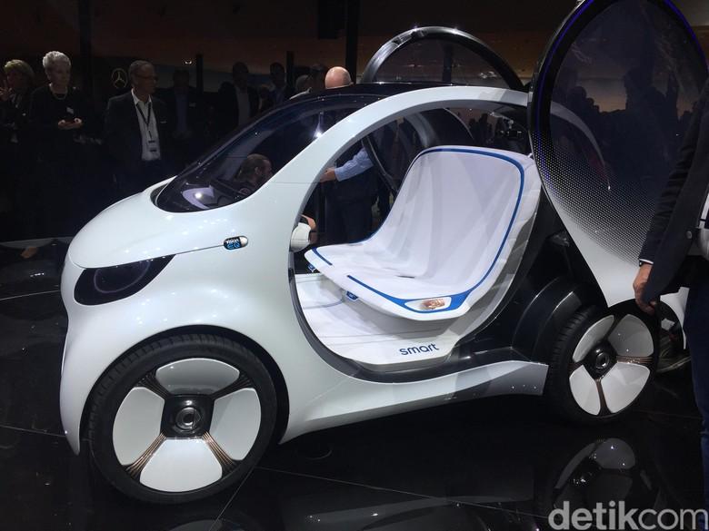 Begini Tampang Mobil Tanpa Sopir Cute dari Smart