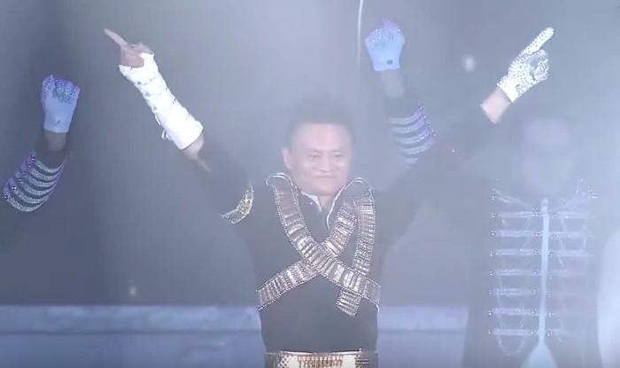 Jack Ma ala Michael Jackson. Foto: YouTube