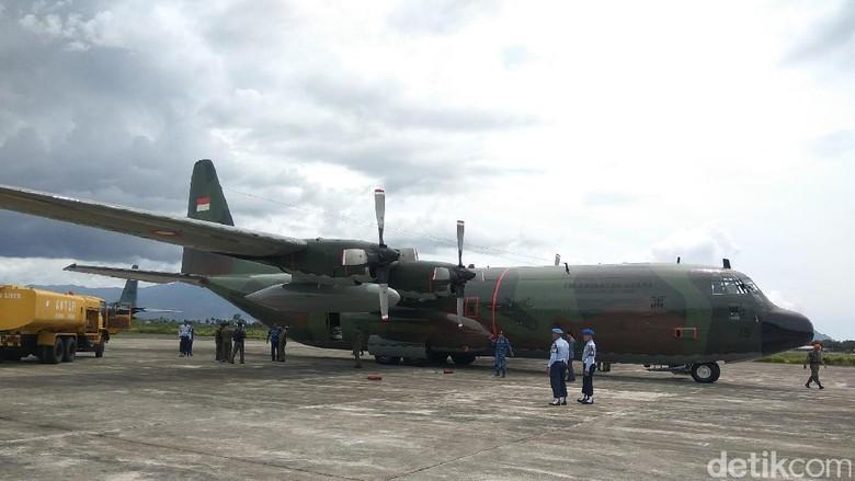 4 Pesawat Bawa Bantuan untuk Rohingya Transit di Aceh