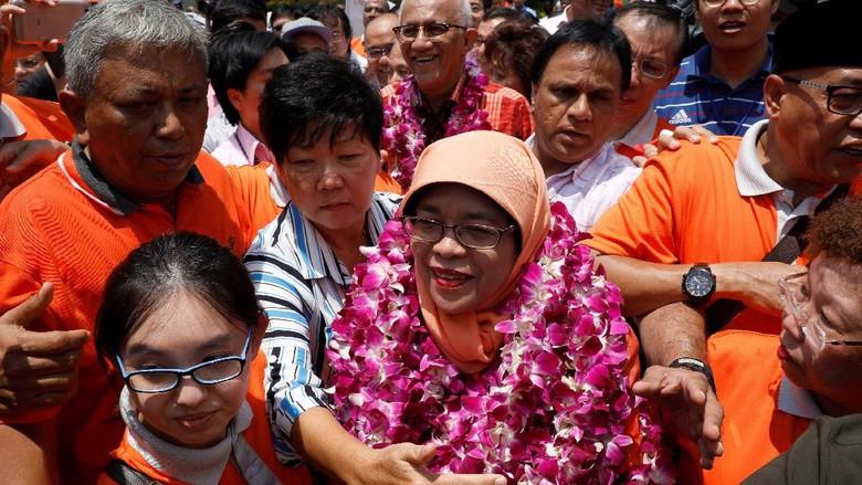 Resmi Jadi Presiden Muslimah Pertama Singapura, Ini Kata Halimah