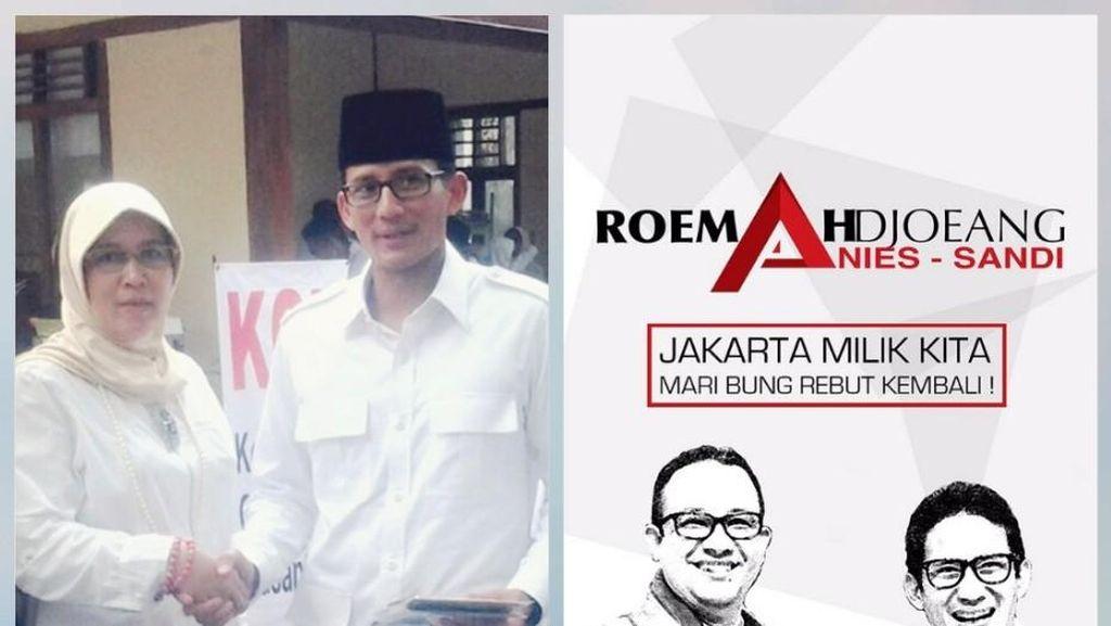 Asma Dewi Foto dengan Sandiaga, Gerindra DKI: Dia Bukan Timses
