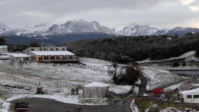 Kota Ushuaia di Argentina (Shafik Meghji/BBC)