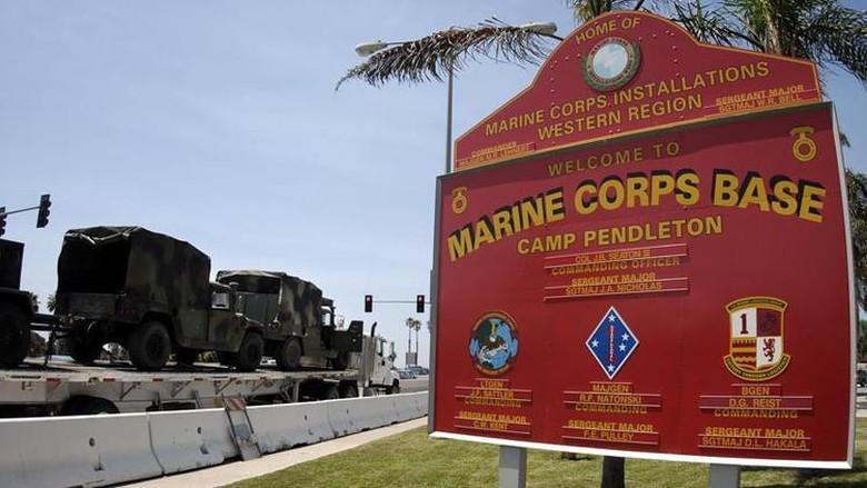 Kendaraan Tempur Amfibi Terbakar Saat Latihan, 15 Marinir AS Luka