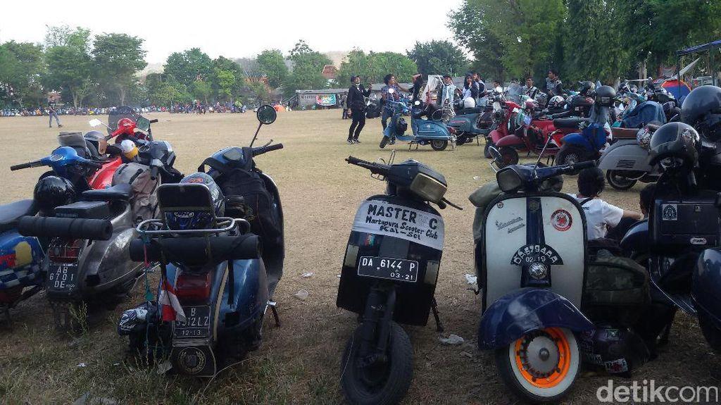 Akhir Pekan Ini, Ribuan Vespa Lawas Kumpul di Yogyakarta