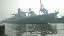 Saat 3 Kapal Perang China Bersandar di Pelabuhan Tanjung Priok