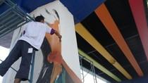 Flyover Arjosari Malang Bersolek, Berhias Warna-warni Mural