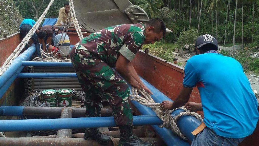 Kampung Binaan Serka Darwis Akhirnya Dibikinkan Jembatan Gantung