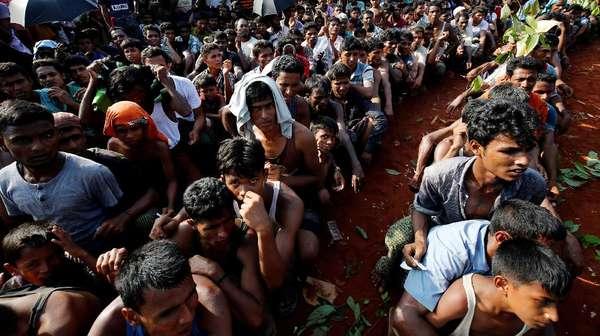 10 Ribu Warga Bangladesh Protes Kedutaan Myanmar Soal Rohingya