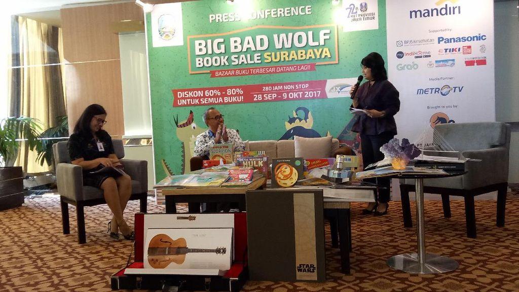 Digelar 12 Hari Non Stop, Ini Bocoran Buku di Big Bad Wolf Surabaya