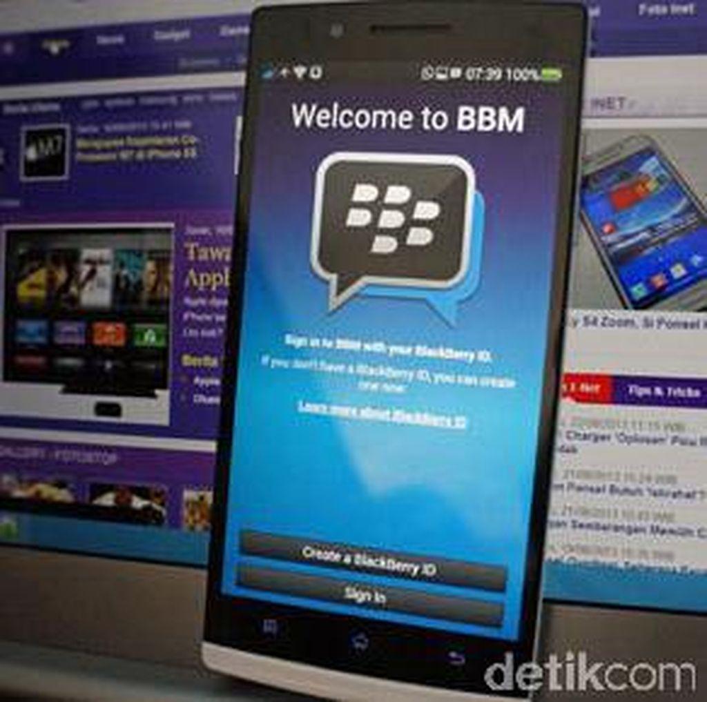 Aplikasi BBM Disusupi Komik Mesum