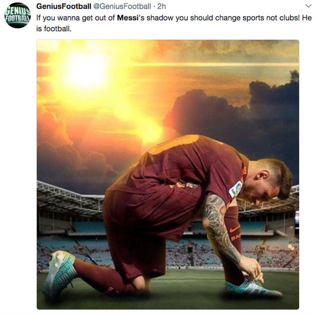 Messi Cetak 4 Gol, Netizen Sindir Real Madrid