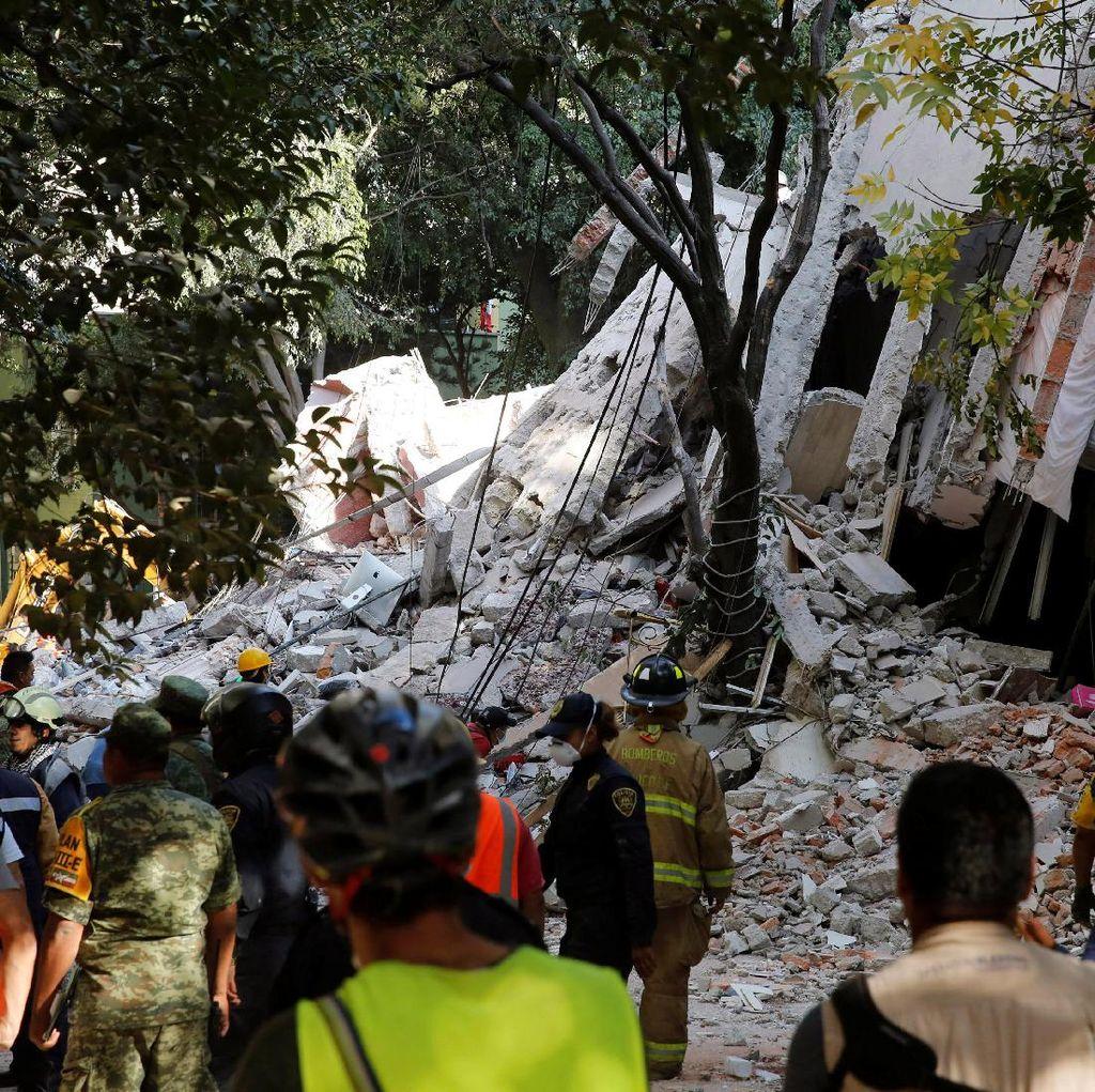 Gempa 7,1 SR Guncang Meksiko Saat Peringatan Gempa Dahsyat 1985