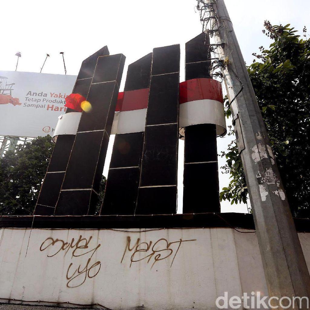 Miris, Monumen Tugu Bambu Runcing di Kota Bekasi Tidak Terawat