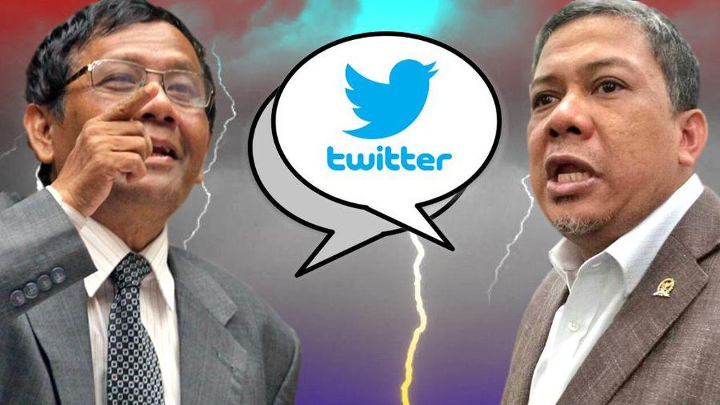 Twitwar Soal OTT KPK, Mahfud MD: Pak Fahri Kok Baperan Sih