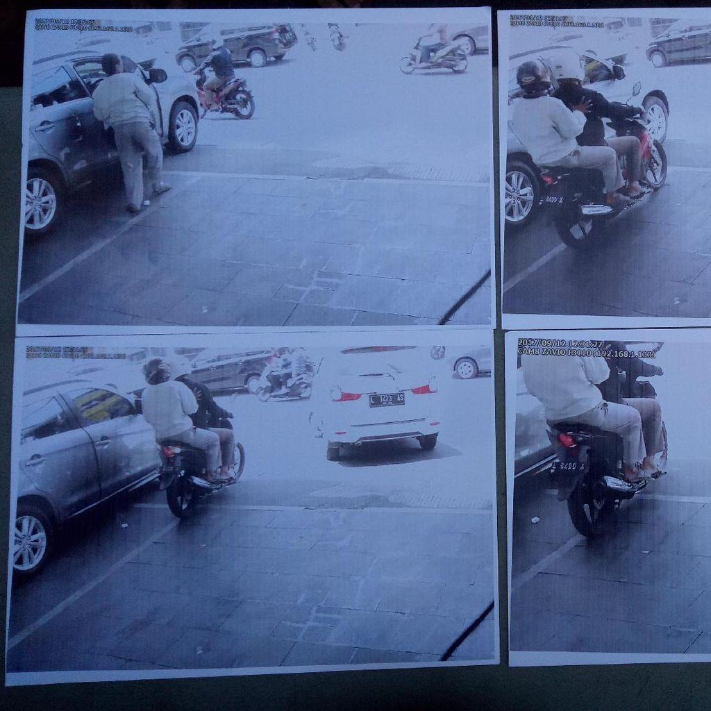 Rekaman CCCTV Perlihatkan Mobil Anak Risma Dibobol Kurang 1 Menit