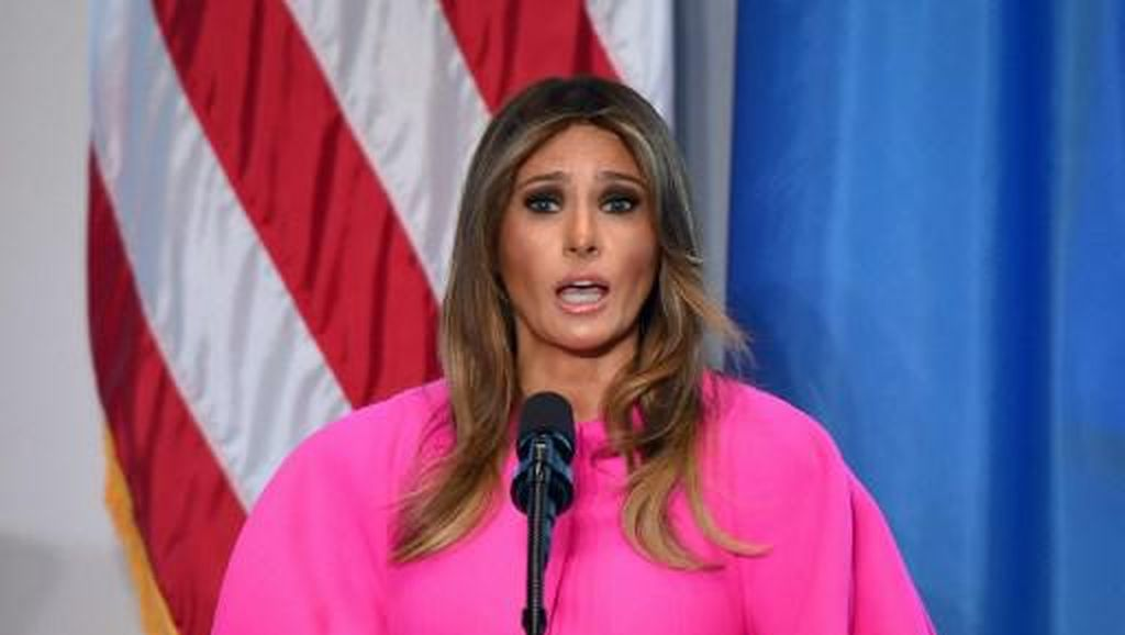 Melania Trump Dibully karena Pakai Gaun Rp 40 Juta Saat Pidato di PBB