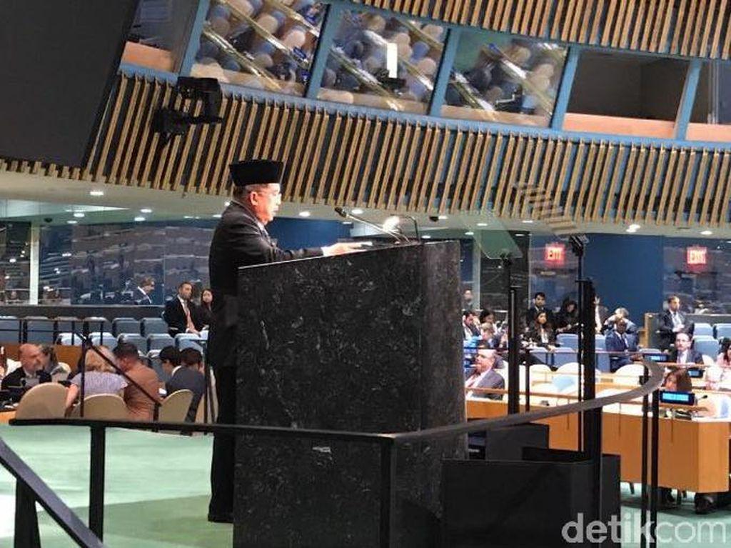 Rayakan 1 Muharam, JK Berkopiah di Sesi Debat Umum Sidang PBB