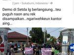 Tulis Aksi Pedemo di Medsos, PNS Sukabumi Kena Sanksi
