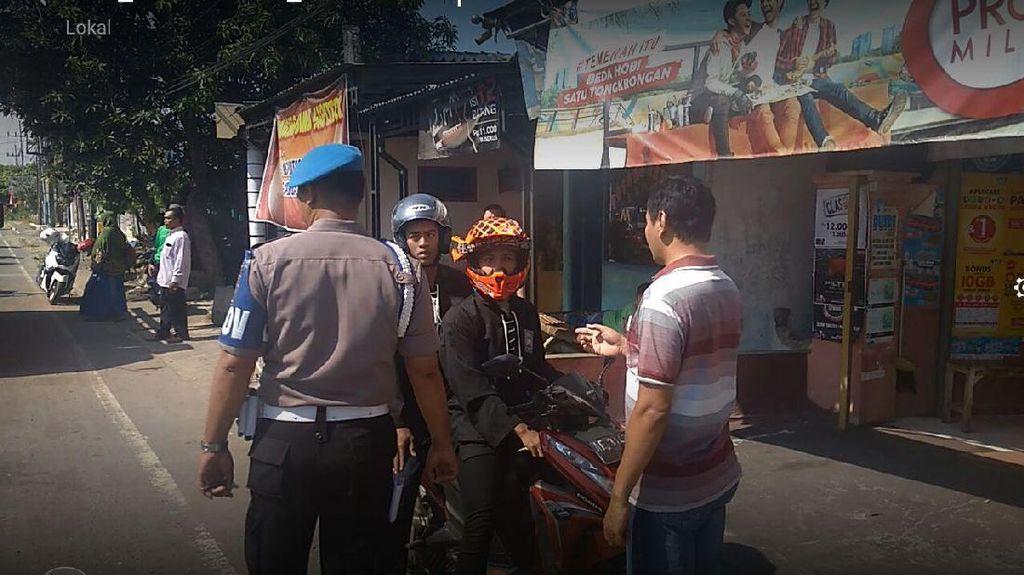 Polisi Tilang 150 Motor Konvoi saat Ziarah Suro