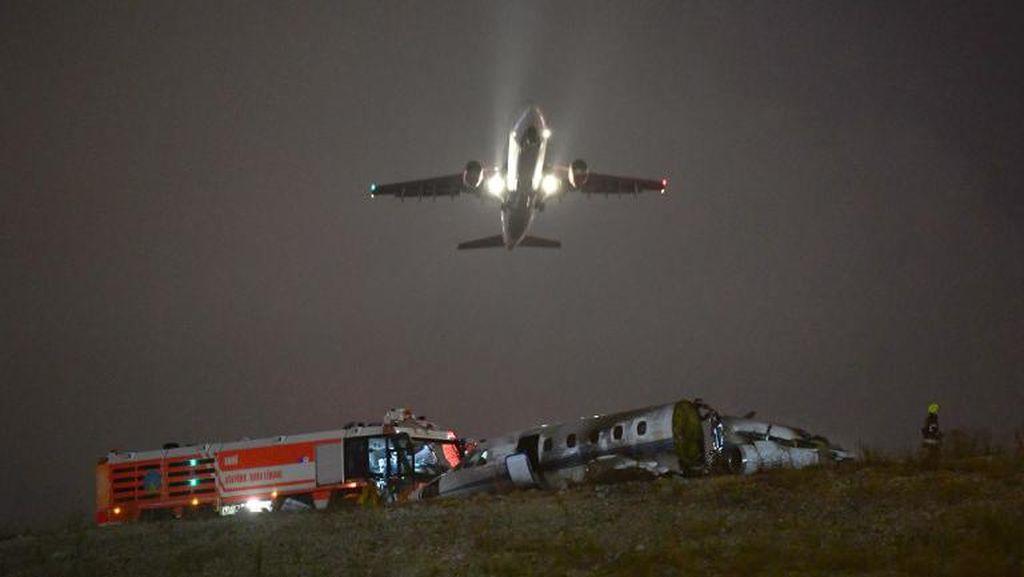 Jet Pribadi Jatuh Saat Akan Mendarat di Istanbul, 4 Orang Luka-luka