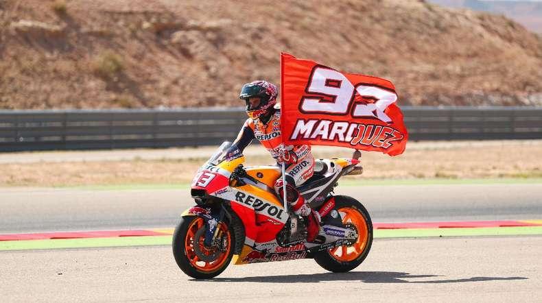 Highlights Marc Marquez Juara di GP Aragon