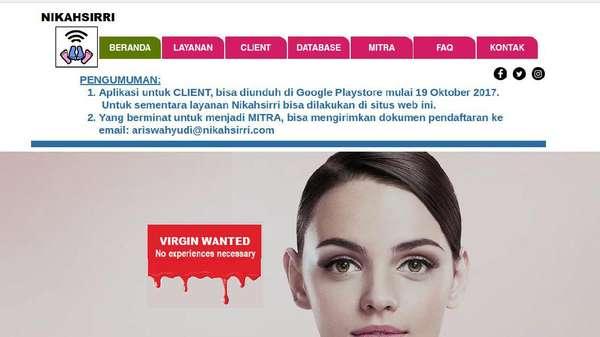 Kominfo Putuskan Blokir Situs Lelang Perawan nikahsirri.com