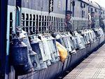 Potret Penumpang Kereta di India