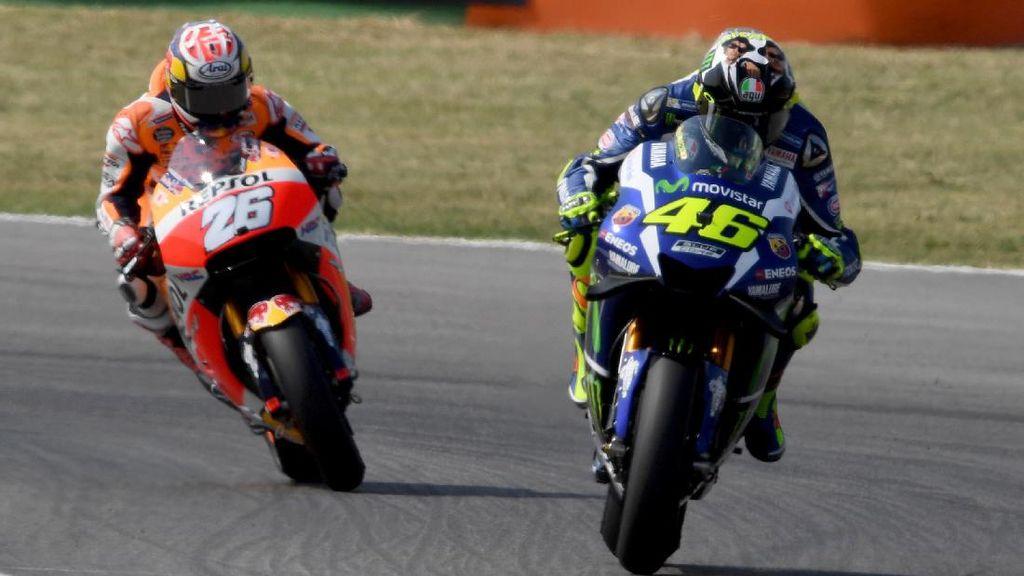 Beda Pandangan Pedrosa dan Rossi Usai Nyaris Bersenggolan