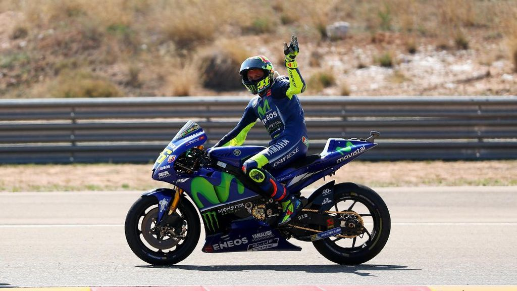 Rossi di Aragon: Sempat Diragukan Balapan, Malah Finis Kelima