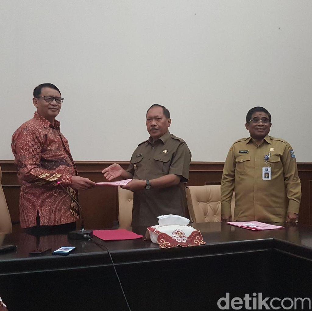 Surat PLT Wali Kota Cilegon Diserahkan ke Gubernur Banten