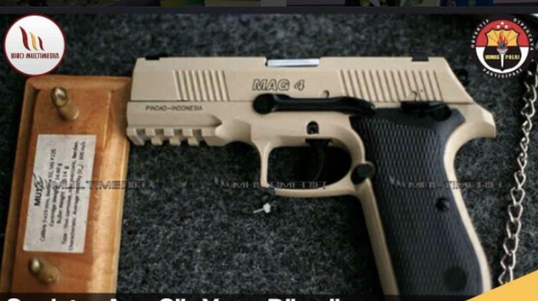 Polri Belum Terima Pistol Tapi - Jakarta Polri sudah menandatangani kontrak pembelian pistol jenis MAG dengan PT Namun hingga saat ini ribuan senjata tersebut