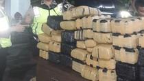 Dua Mobil Kabur Saat Polisi Amankan Pikap yang Bawa 119 Paket Ganja