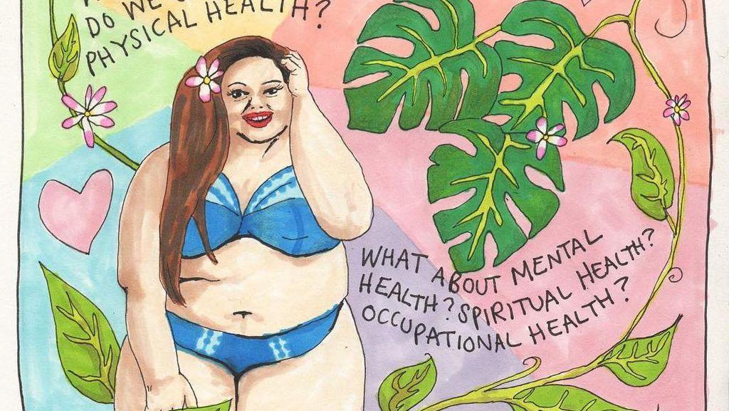 Lewat Gambar Manis, Seniman Ini Menyeru Soal Kesehatan Jiwa