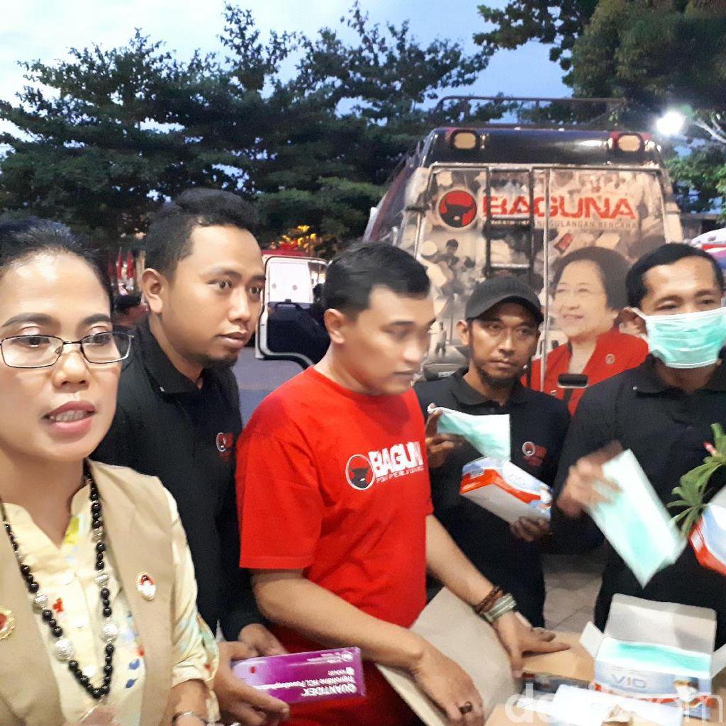 PDIP Jatim Kirim Bantuan untuk Pengungsi Gunung Agung
