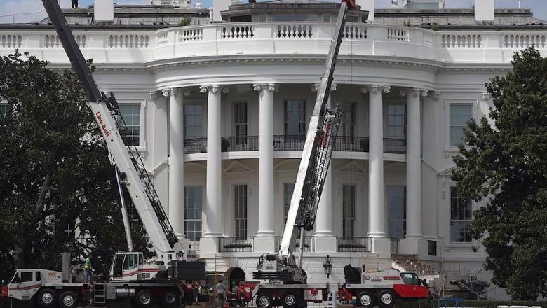 Foto: Saat White House Direnovasi