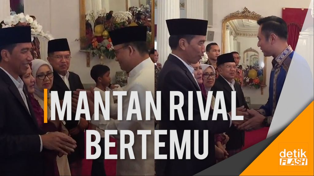 Anies-Sandi dan Agus Yudhoyono Hadiri Open House Jokowi