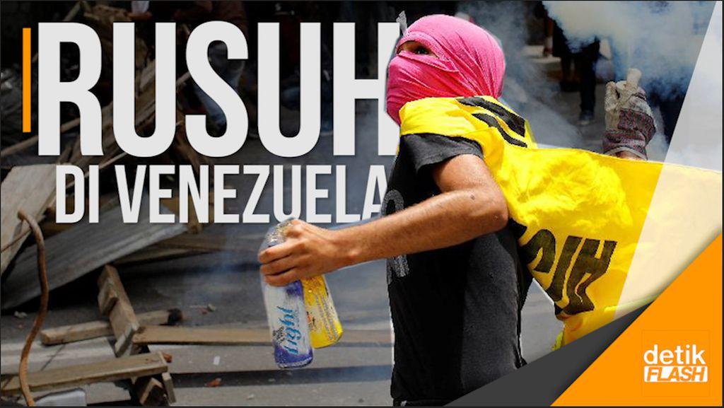 5 Tewas saat Demonstran Bentrok dengan Aparat di Venezuela