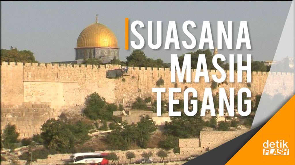 Protes Warga Palestina Usai Israel Bongkar Pendeteksi Logam