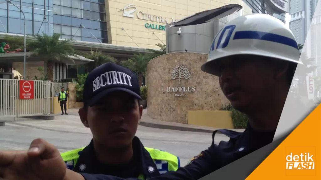 Suasana Hotel Raffles Jelang Kedatangan Raja Salman