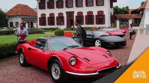 10 Ferrari Klasik Mejeng di Gedung Arsip Nasional
