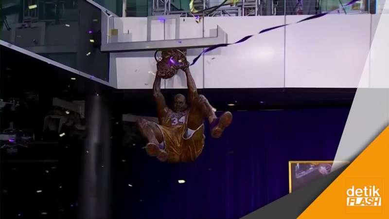 Bintang LA Lakers, Shaquille O'Neal Dibuatkan Patung