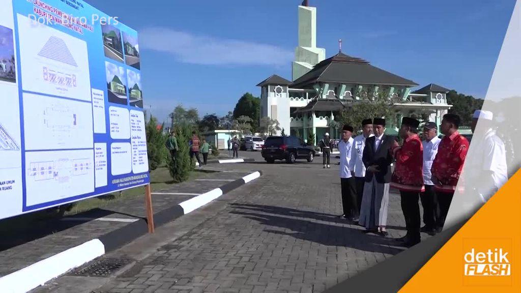 Presiden Mulai Pembangunan Asrama Haji di Mandailing Natal