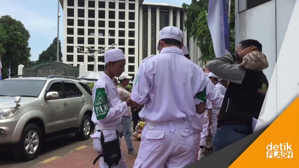 Massa GNPF Tiba di Istiqlal, Personel Gabungan Bersiaga
