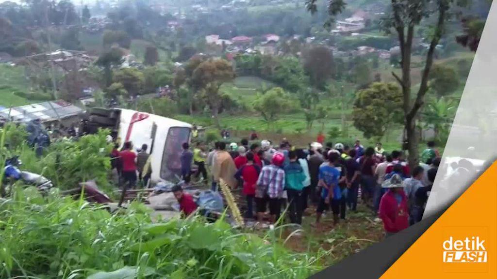 Bus Wisata Remblong Lagi, Kecelakan Maut Terjadi Lagi di Puncak