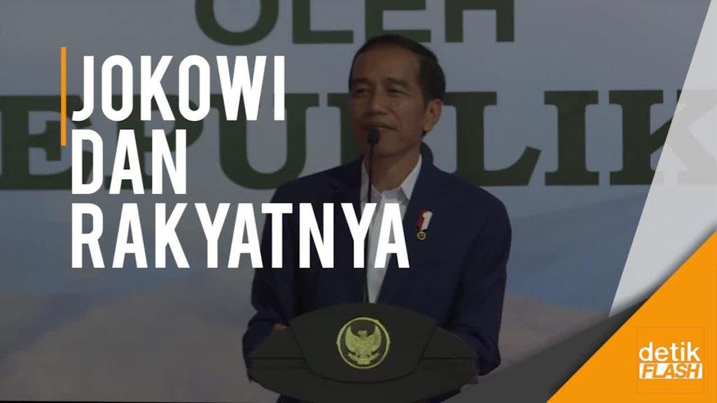 Momen Kocak Jokowi dan Ibu Tua