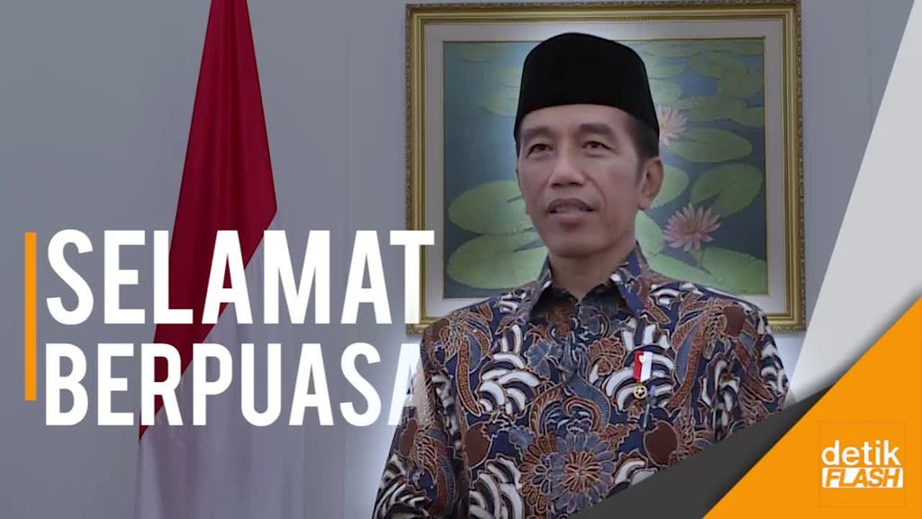 Jokowi: Selamat Berpuasa, Tingkatkan Persatuan dan Persaudaraan